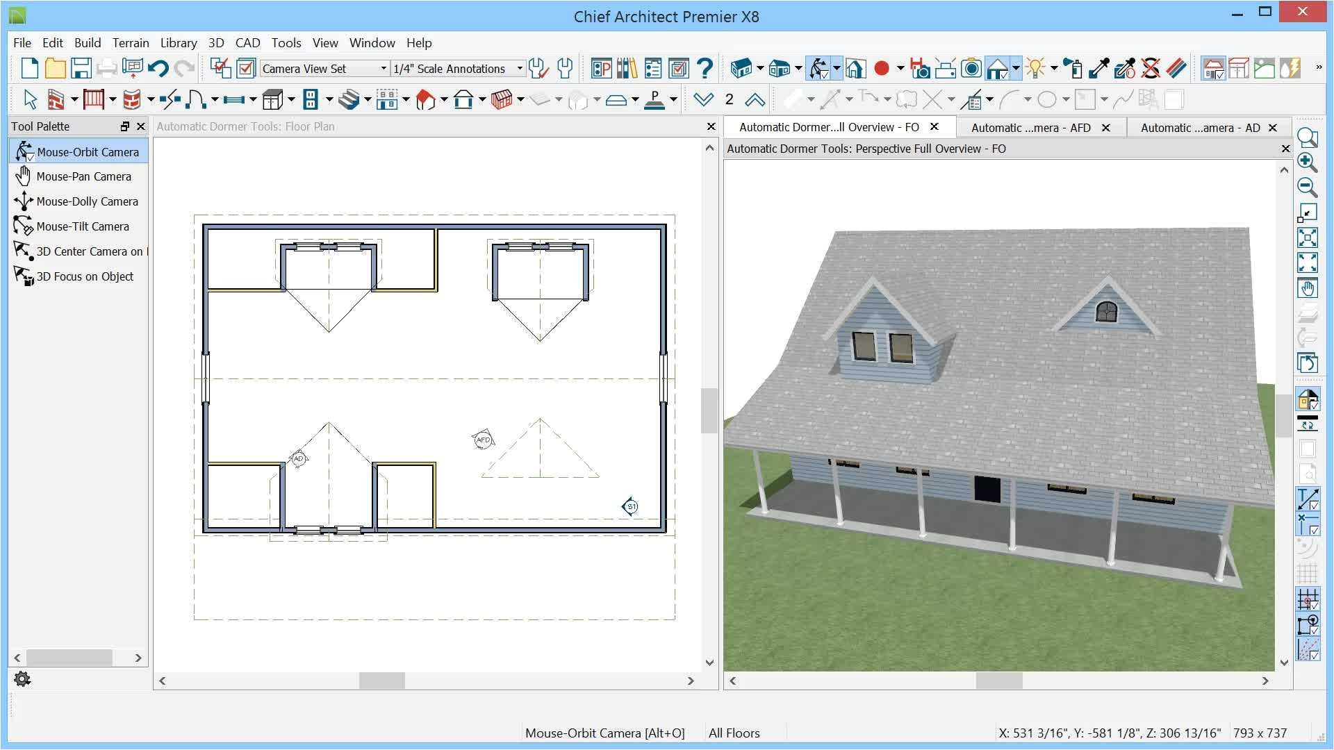 house plan drawing tool with constructing dormers