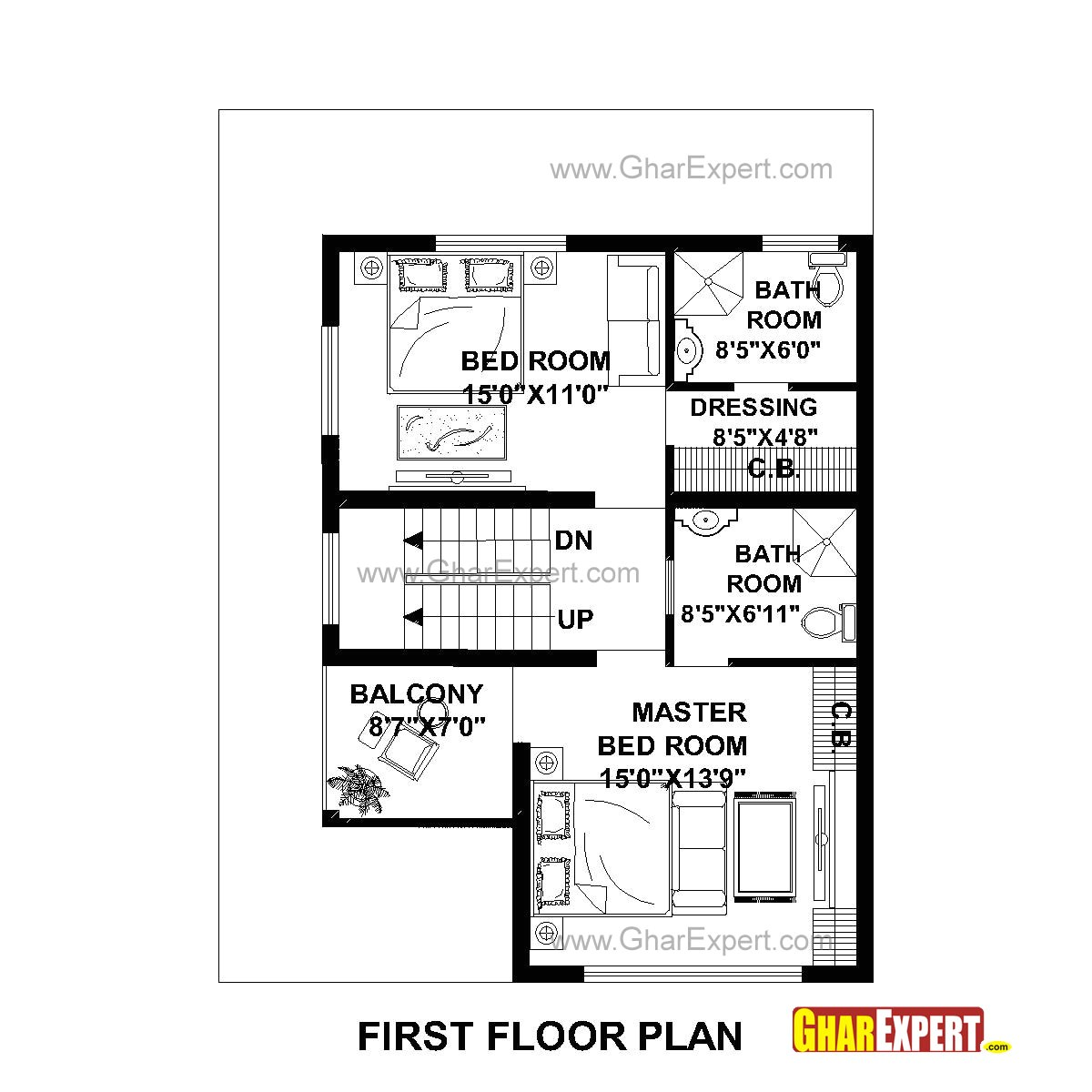 plan for 30 feet by 40 feet plot 28plot size 133 square yards 29 plan code 1464