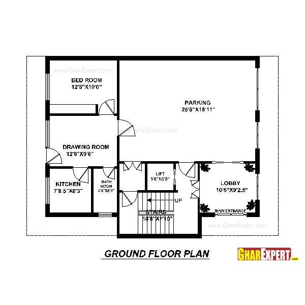 plan for 40 feet by 30 feet plot plot size 133 square yards plan code 1659