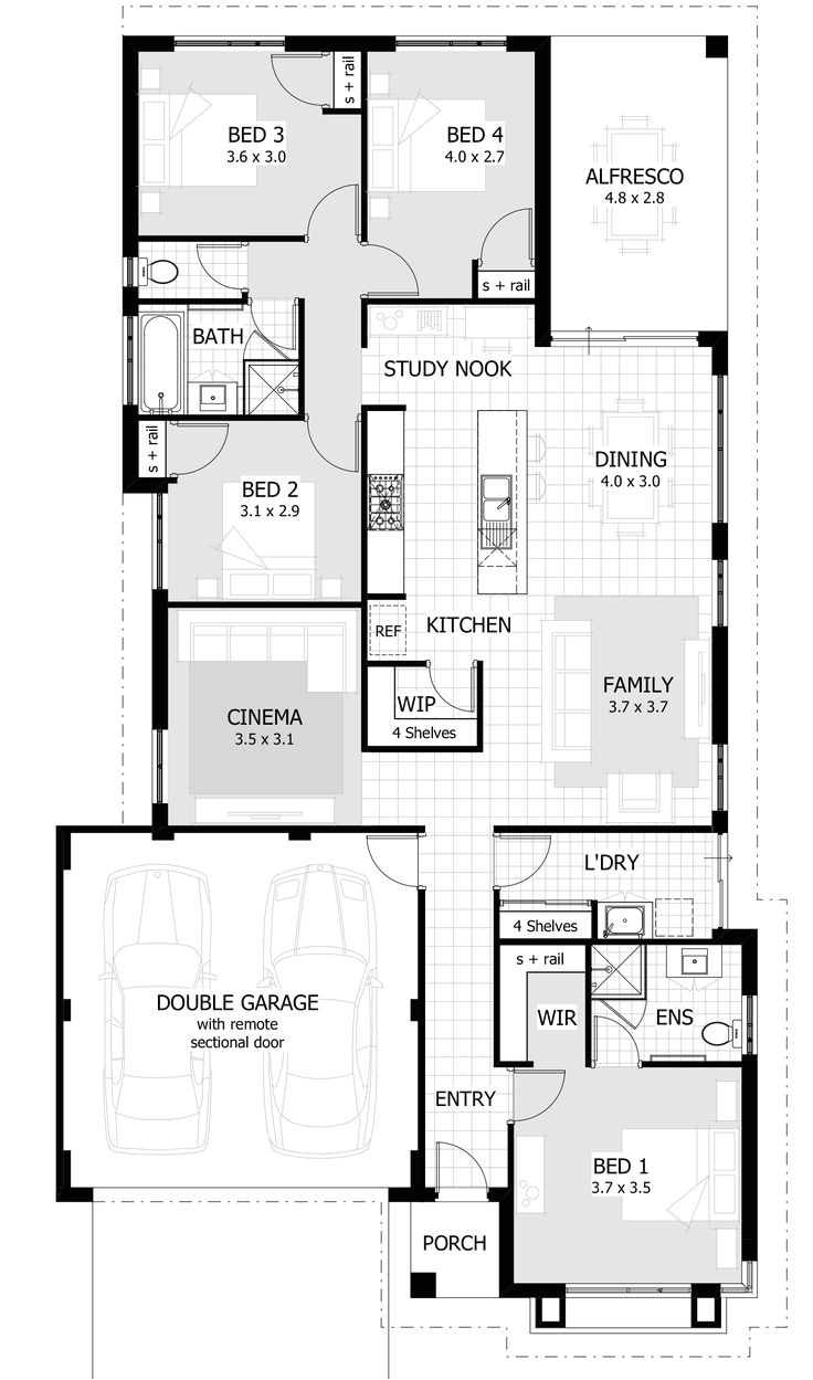 house floor plans by lot size