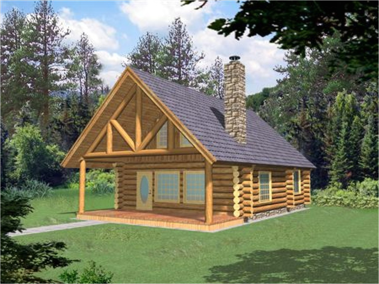 House Plans for Cabins and Small Houses Small Log Home with Loft Small Log Cabin Homes Plans