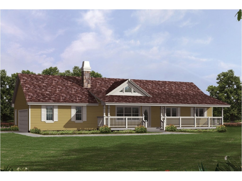 unique ranch house plans covered porch classic style