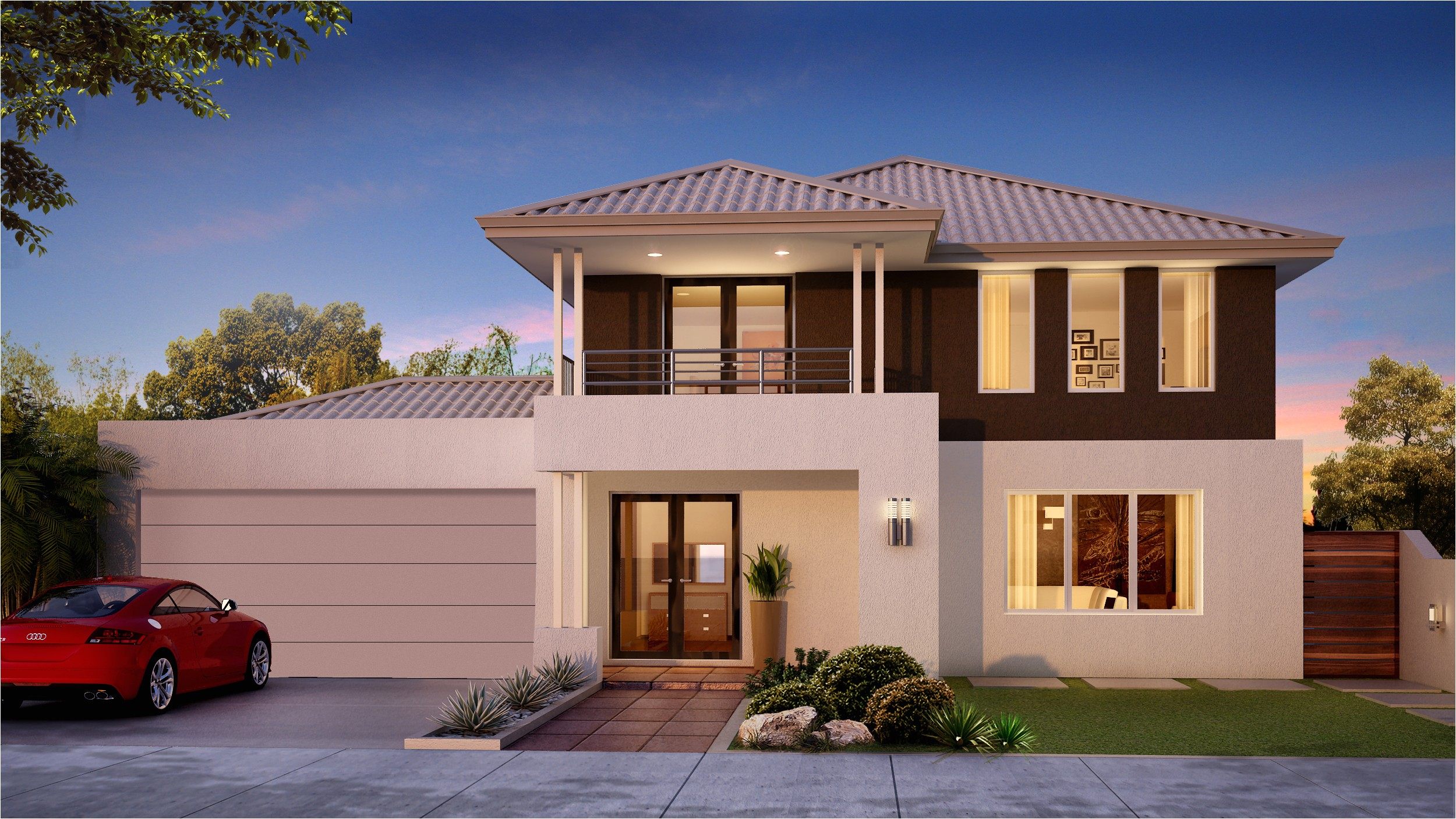 two story ocean view house plans