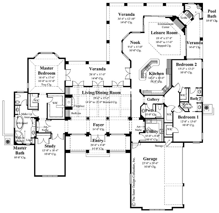 ranch house plans with country kitchen
