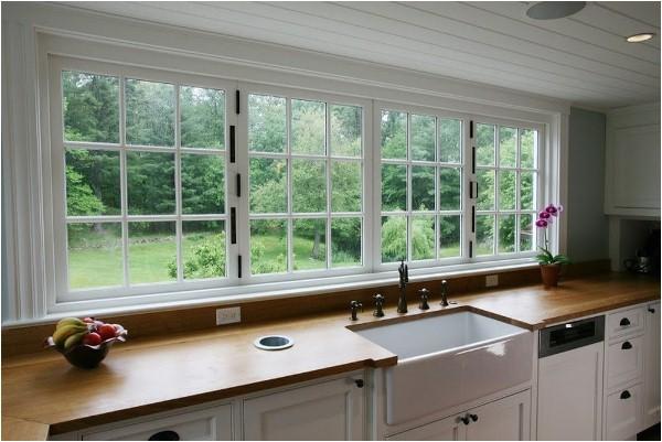 large kitchen window