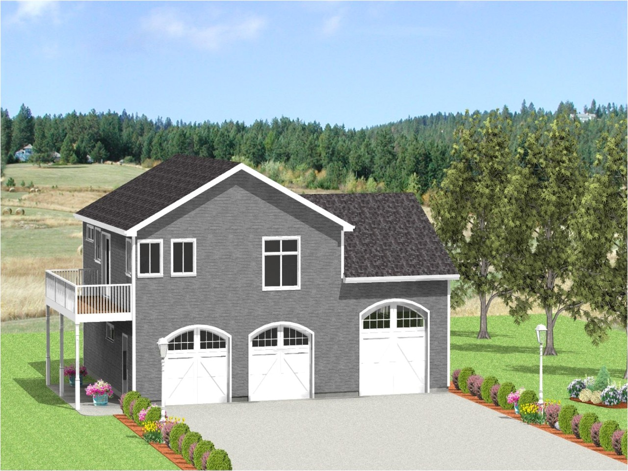 rv garage house plans