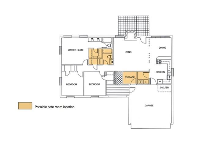 house plans safe room