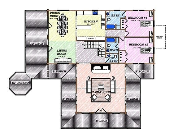 Katahdin Log Home Floor Plan 05999 Katahdin Cedar Log Homes Floor Plans