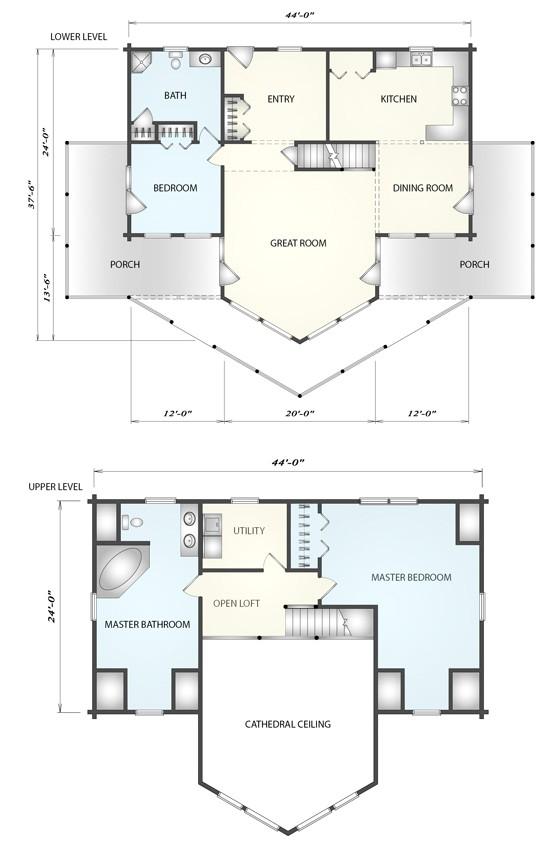 Katahdin Log Home Floor Plan Plantation Log Home Floor Plan by Katahdin Cedar Log Homes