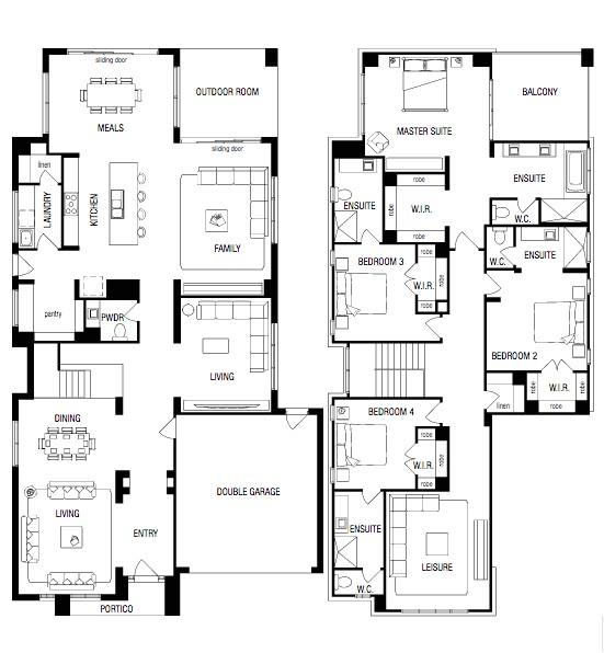 metricon house floor plans