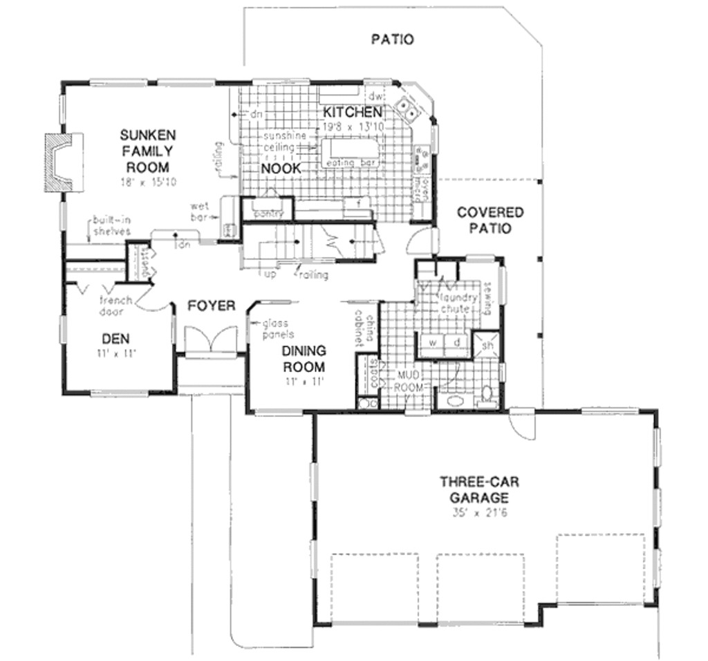 2642 square feet 4 bedrooms 3 bathroom traditional house plans 3 garage 23947