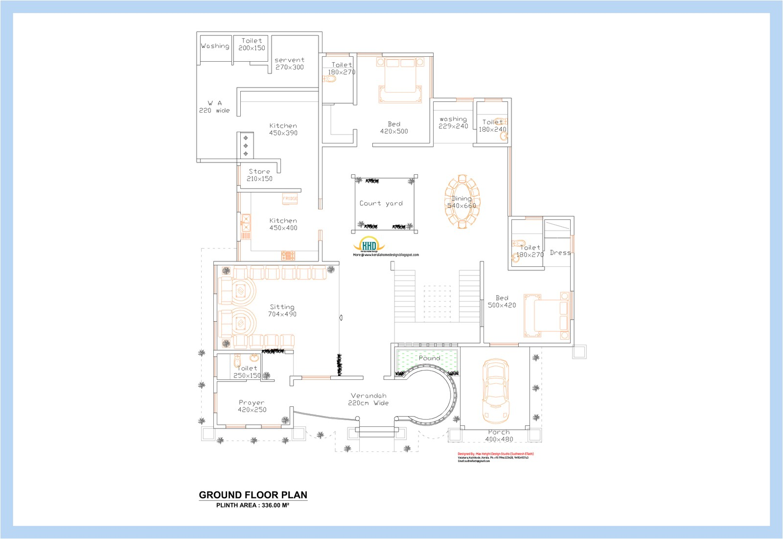 unique kerala home plan and elevation