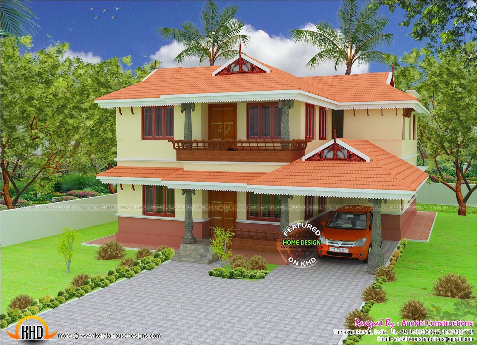 2080 square feet kerala model house