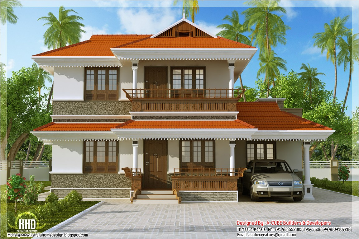 kerala model home plan