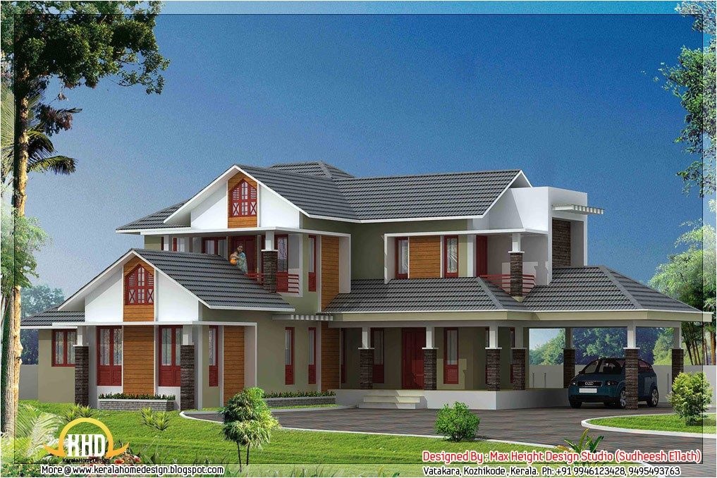 Kerala Model Home Plans with Photos 5 Kerala Style House 3d Models Kerala Home Design and