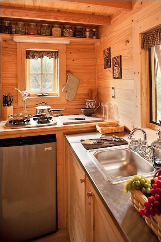 tiny house kitchen at the lodge