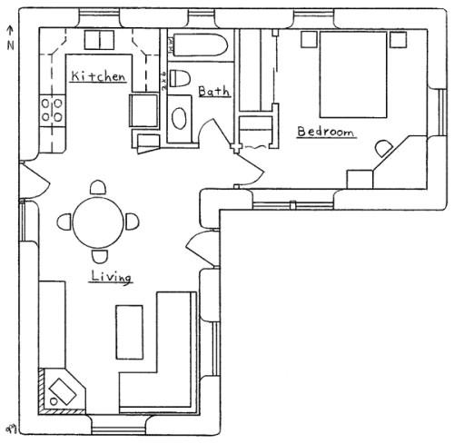 L Shaped Home Floor Plans L Shaped House Plan