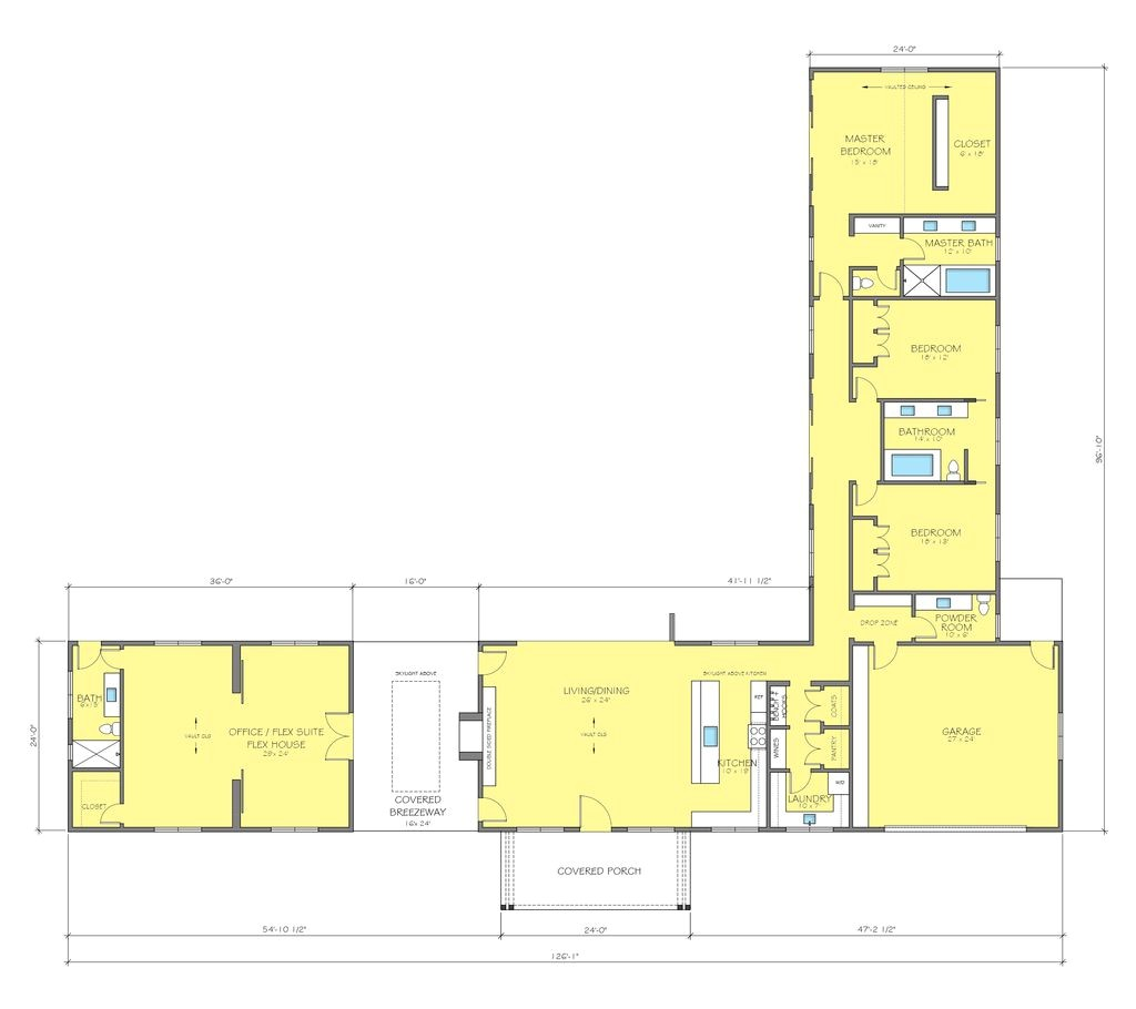 l shaped house plans with courtyard 2