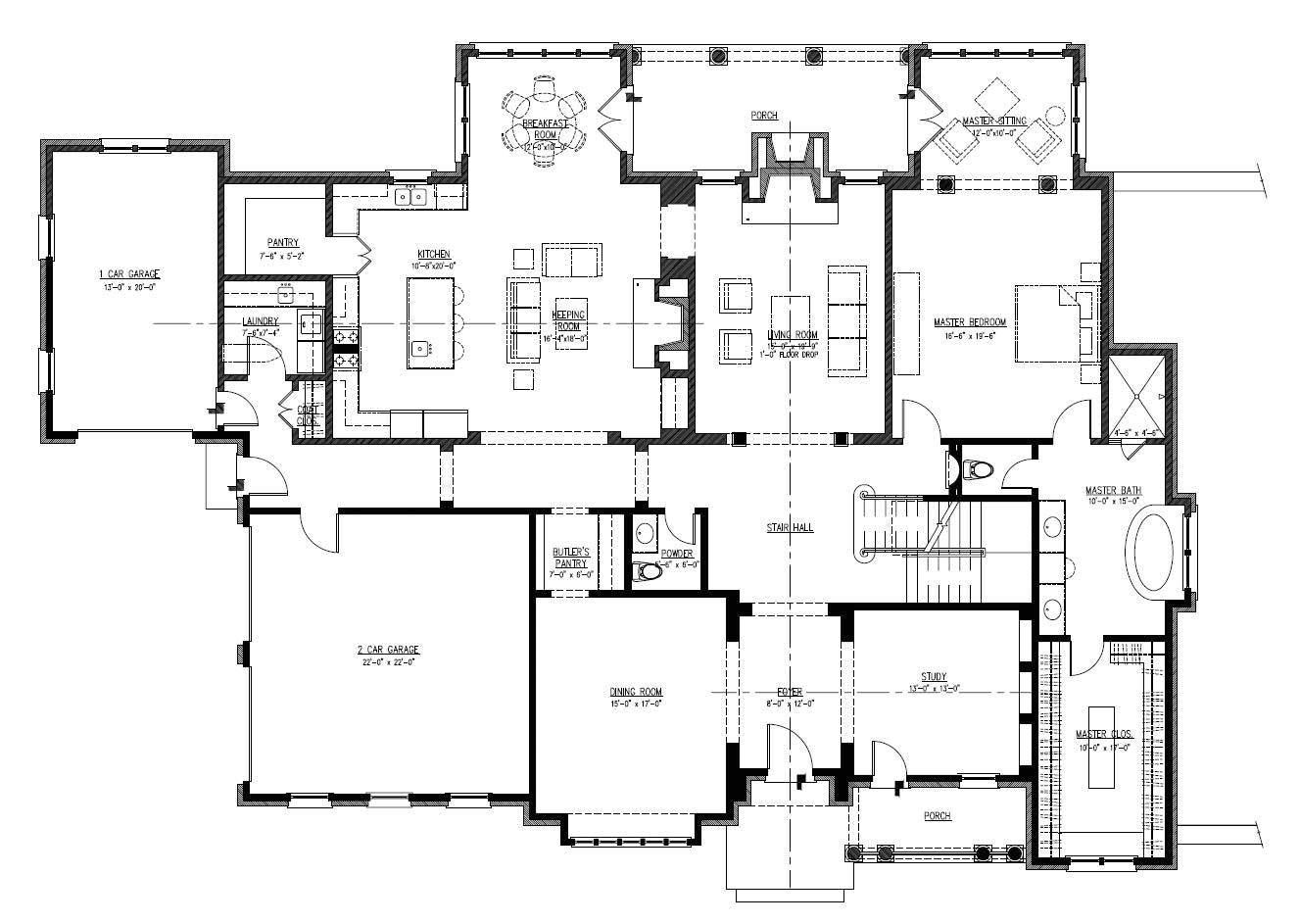 19 unique large one story house plans