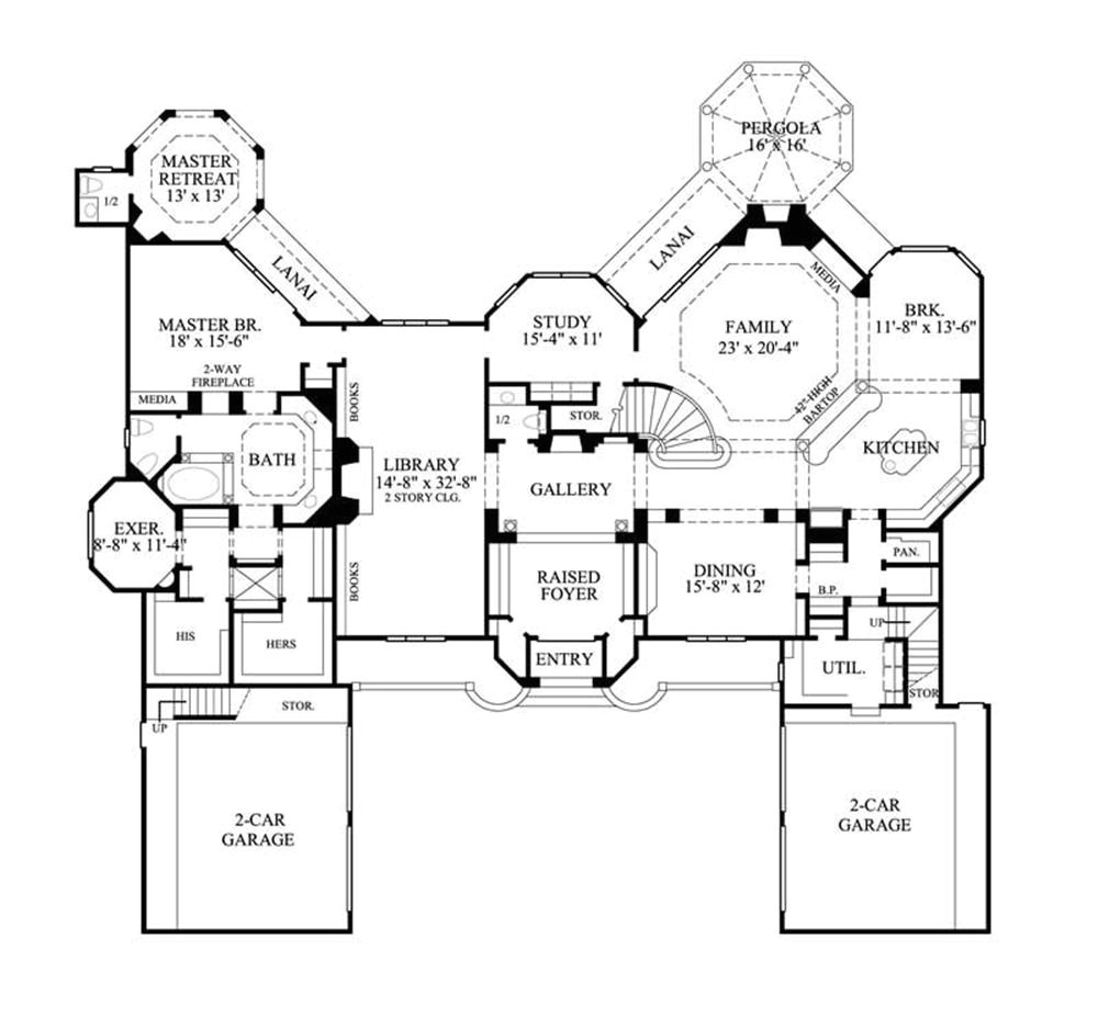 Large One Story Home Plan Large One Story House Plans Smalltowndjs Com
