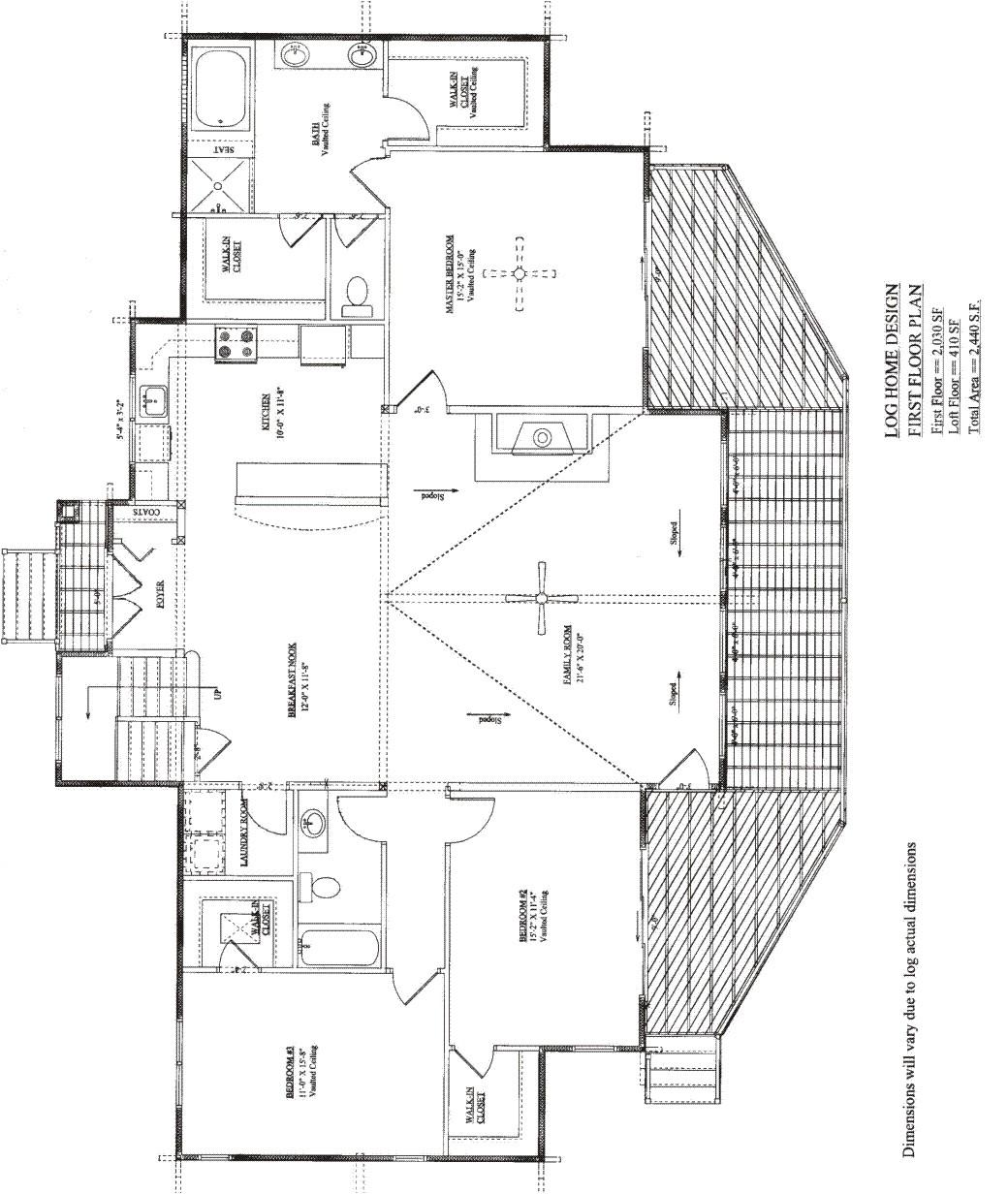 affordable log homes floor plans