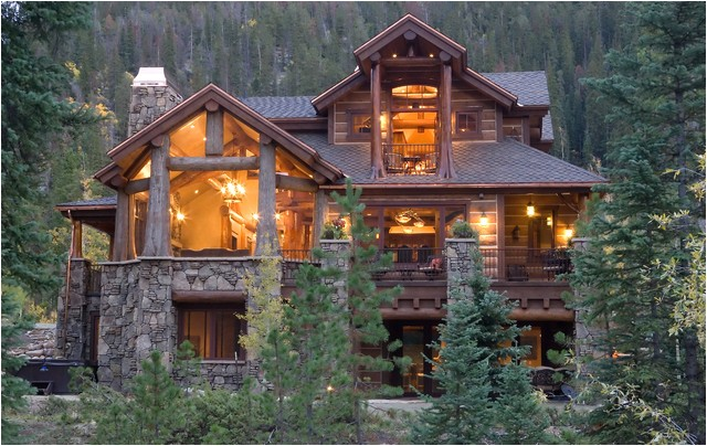 luxury log home plans with bold natural accents