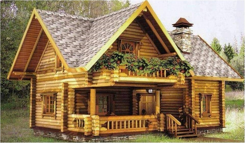 refined attractive log home