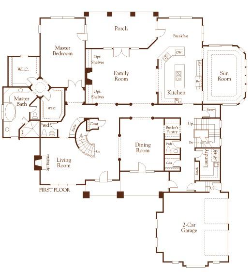 custom luxury home floor plans