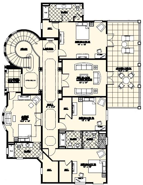 villa marina luxury custom home floor plan jacksonville florida