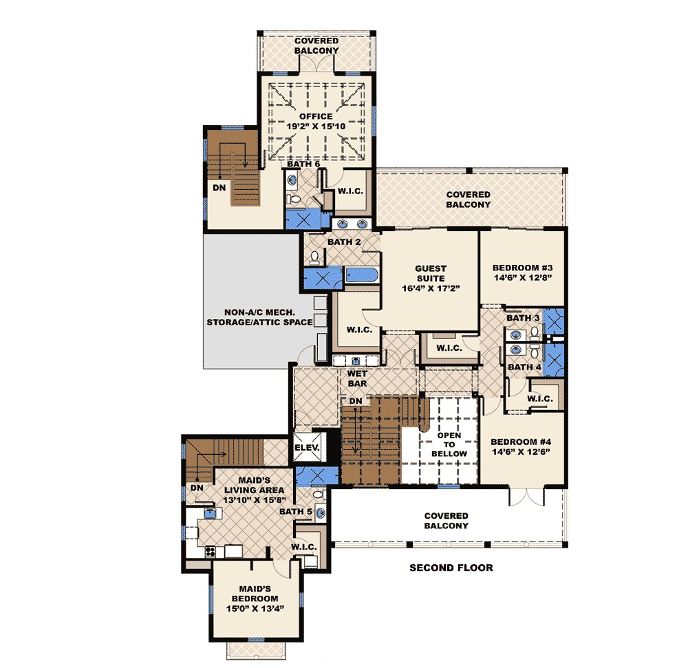 house plans with maids quarters