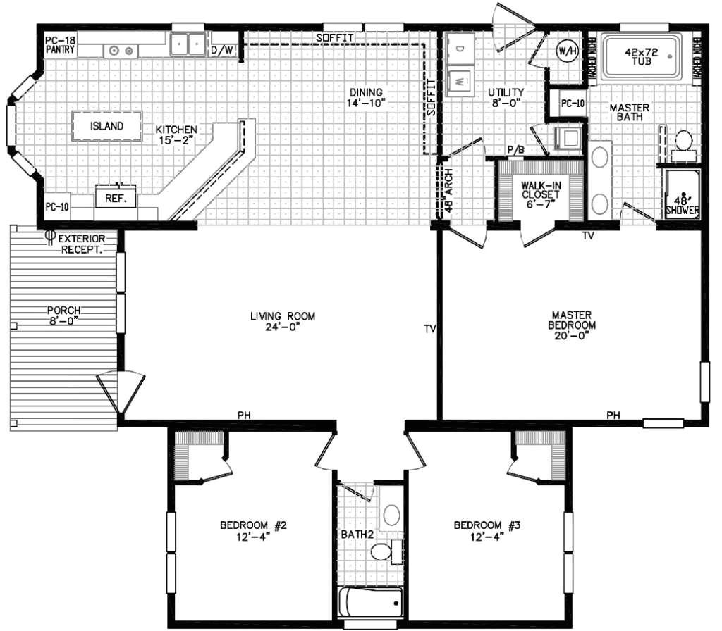 3 bedroom modular home floor plans pictures lone star homes series plan only the scarlett with attractive for in 2018
