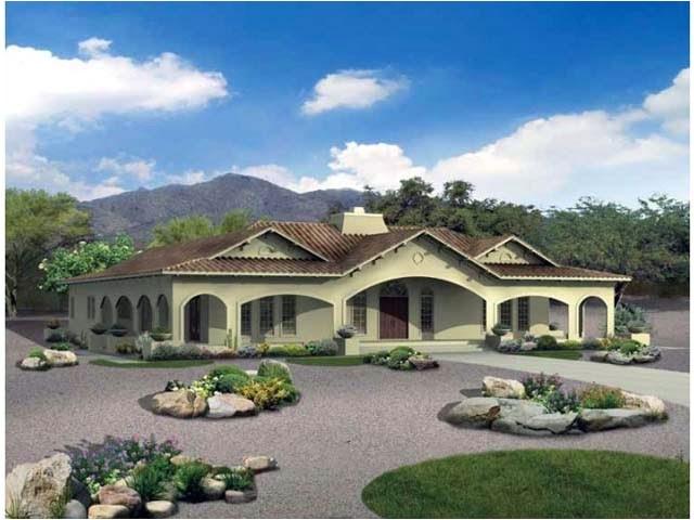 hacienda house plans with center