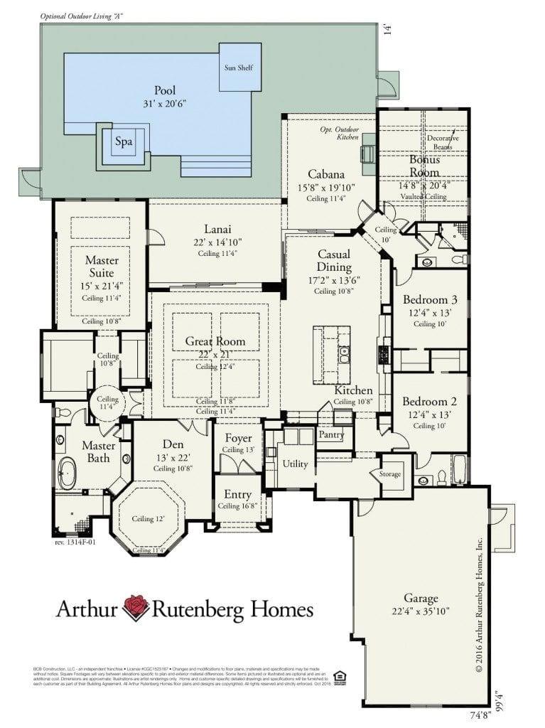 arthur rutenberg homes floor plans elegant panama city fl model home bermuda 1314
