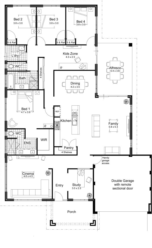 4 bedroom house plans home designs celebration homes modern home for new home floor plan