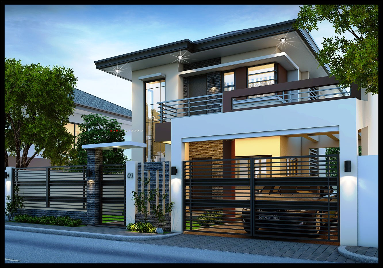 easy ideas modern 2 storey house designs