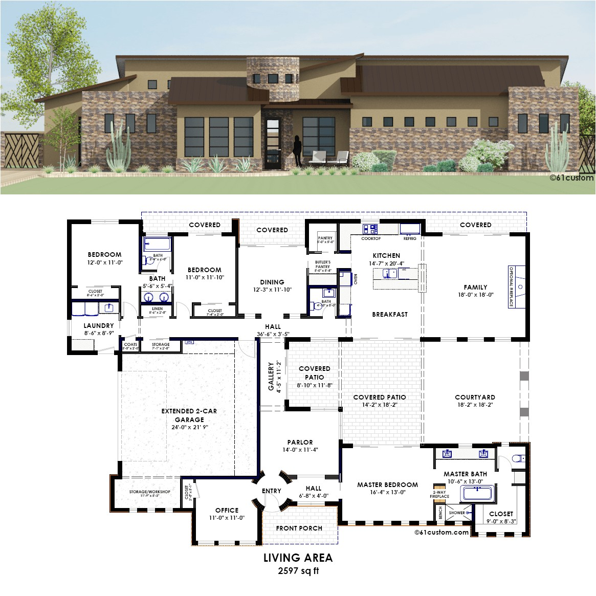 contemporary house plans with courtyard