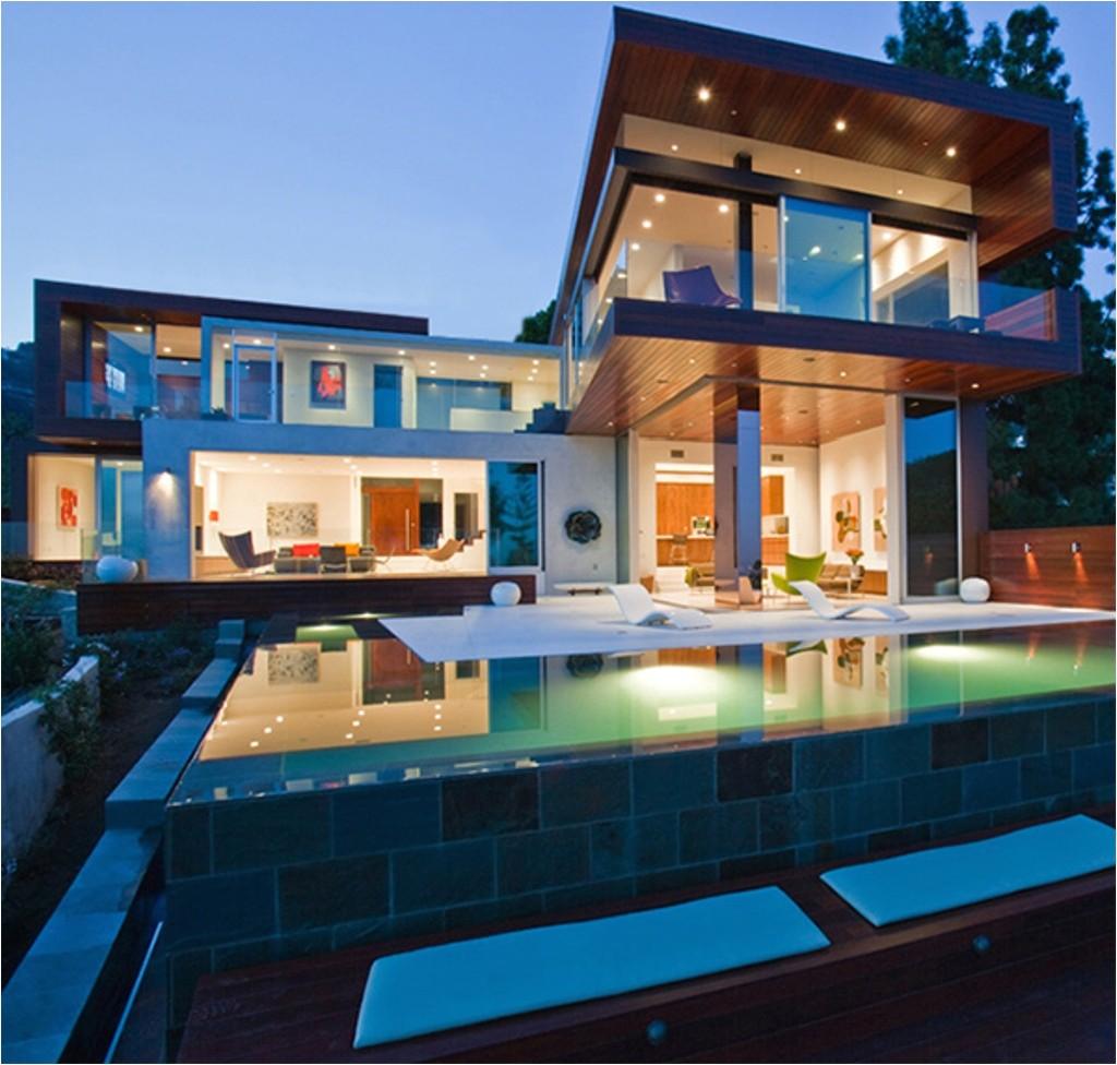 luxury modern house plans pool