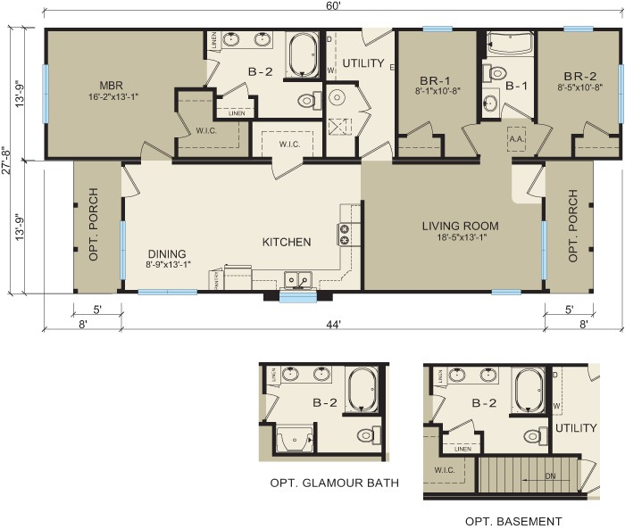 modular home floor plans for narrow lots