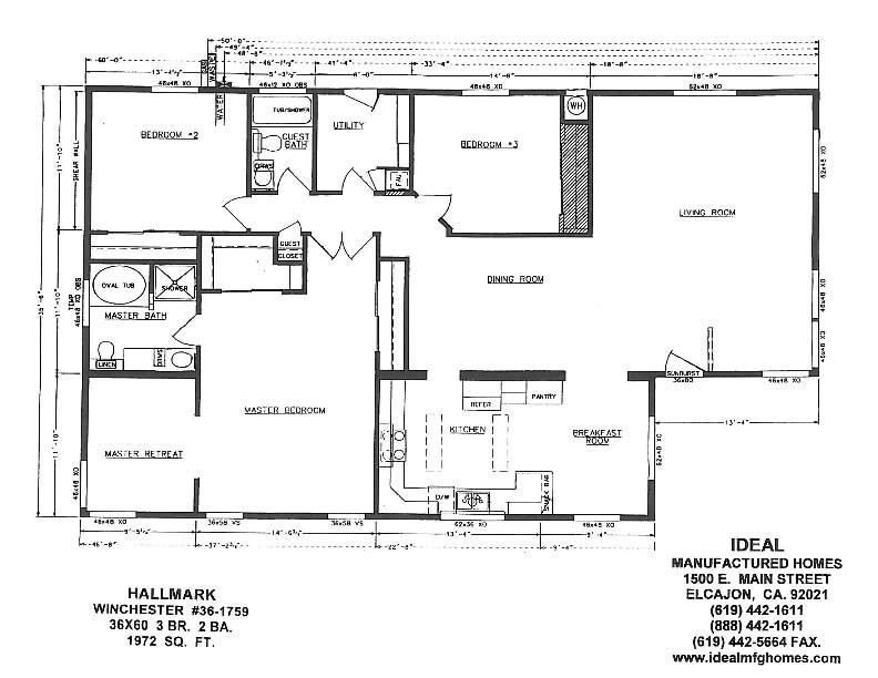 manufactured homes floor plans california