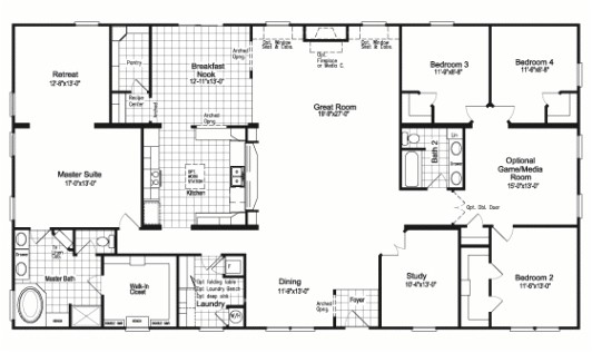 The Floor Plan For The Evolution Model Homepalm Harbor Intended For Awesome  Modular Home Floor Plans
