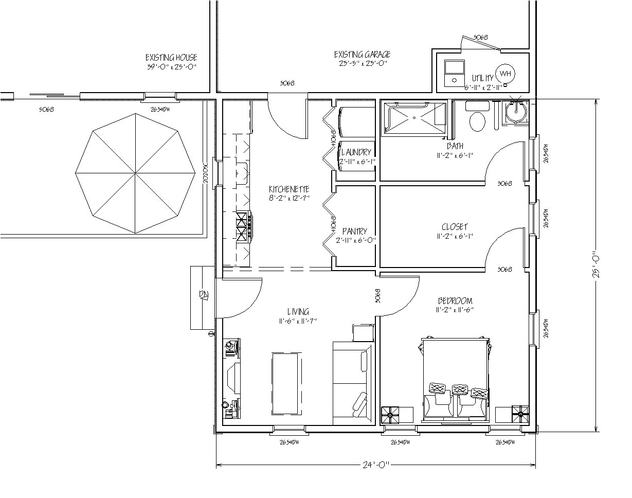 floor plans for in law additions