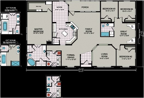 moduline homes floor plans luxury champion moduline avalanche 7664m strictly manufactured homes
