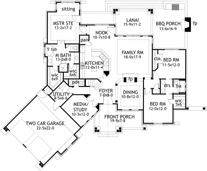 cottage style house plans 2091 square foot home 1 story 3 bedroom and 2 bath 2 garage stalls by monster house plans plan61 102