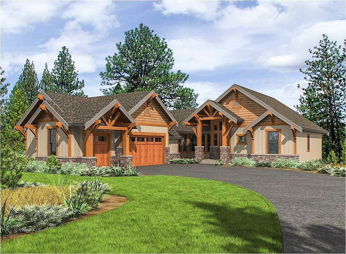 mountain craftsman with one level living 23705jd