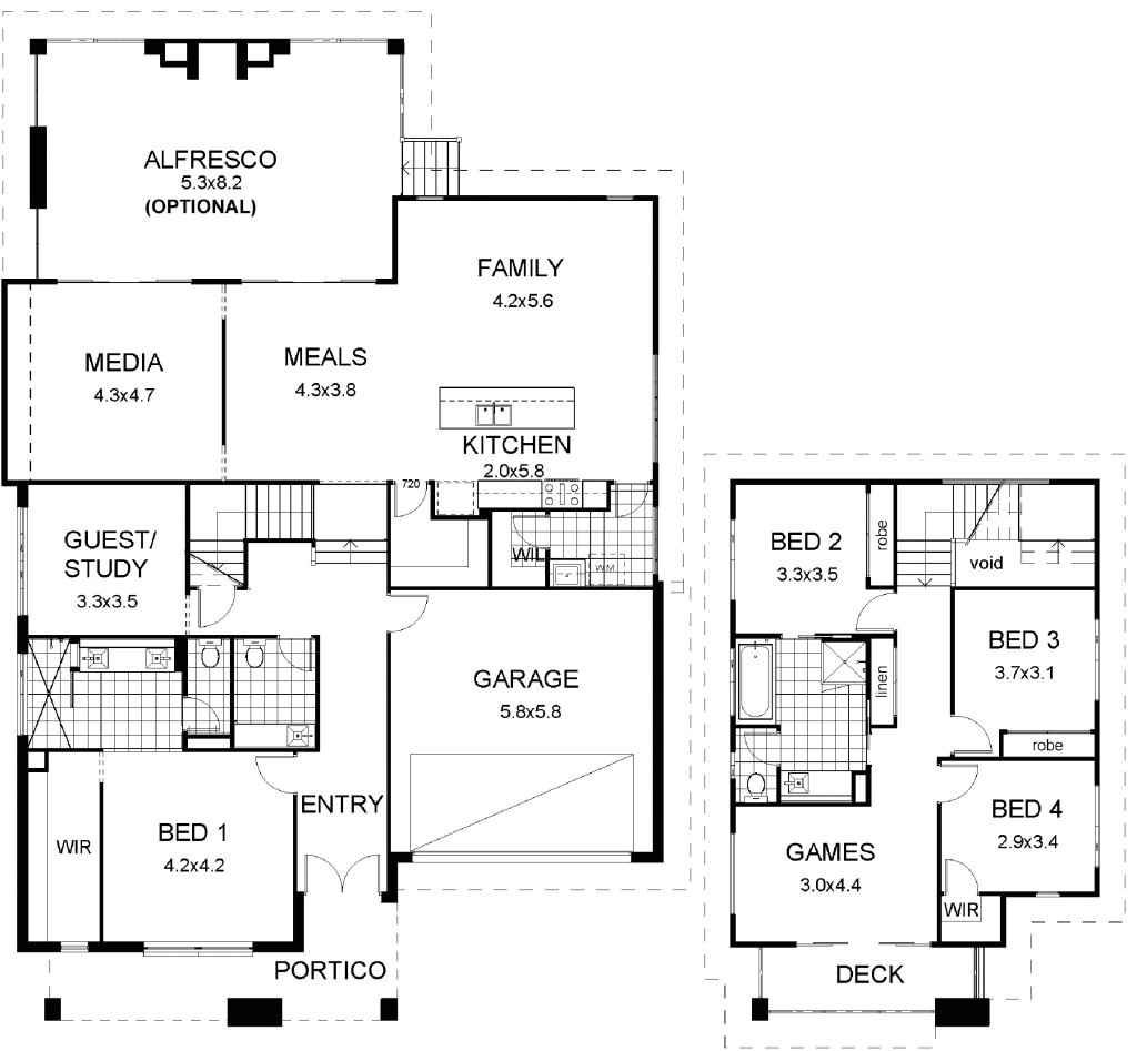 house plans multi level floor plan friday split modern with garage photos 1024x947 12
