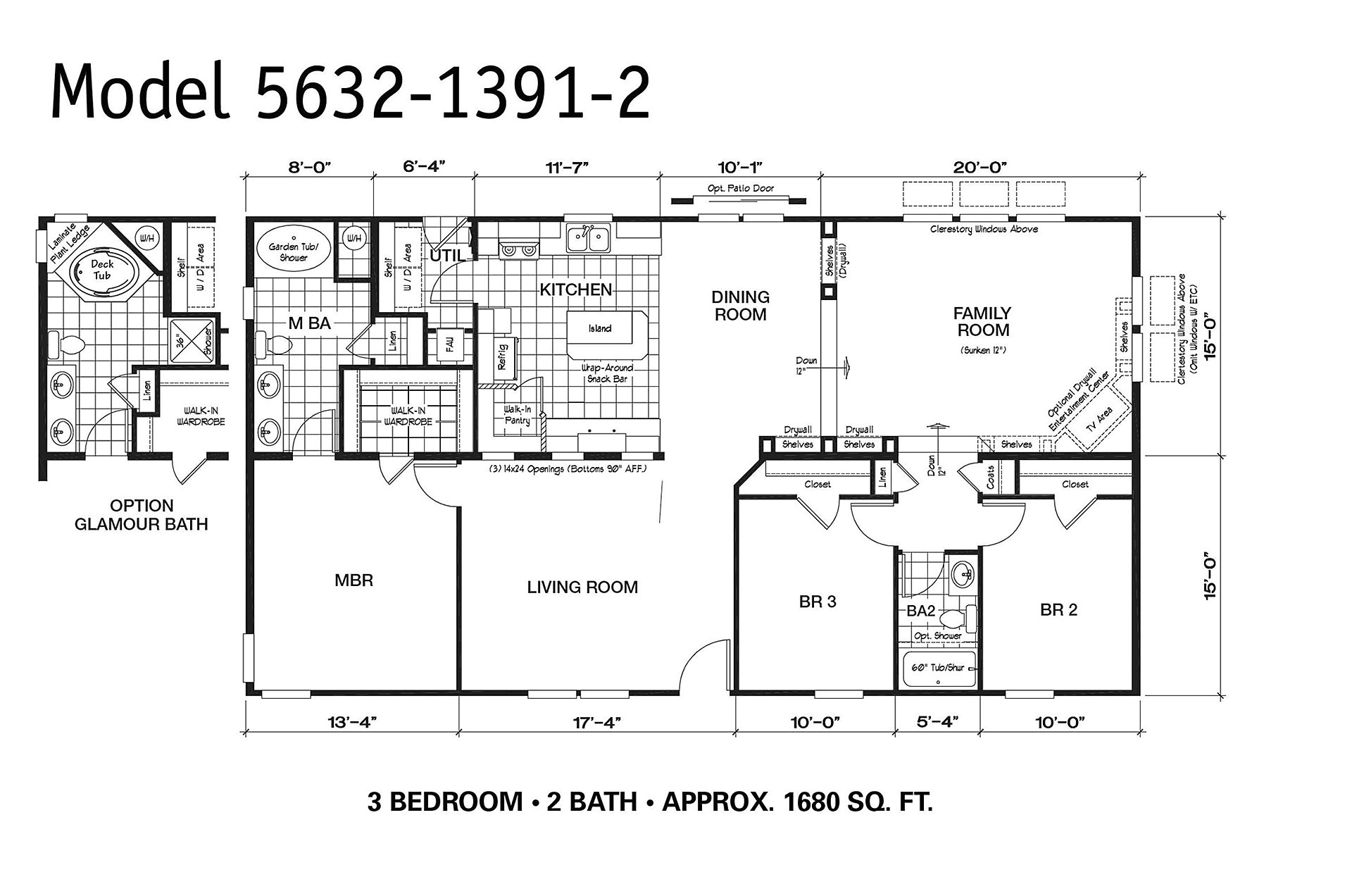 1997 oakwood mobile home floor plan