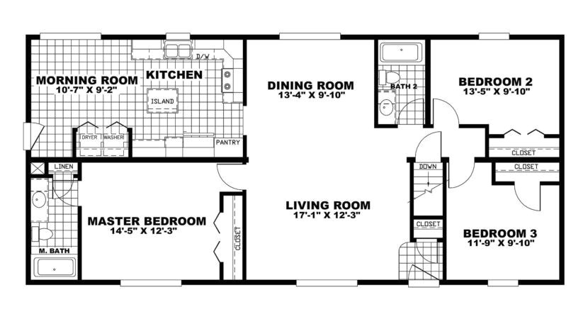 oakwood mobile home floor plans