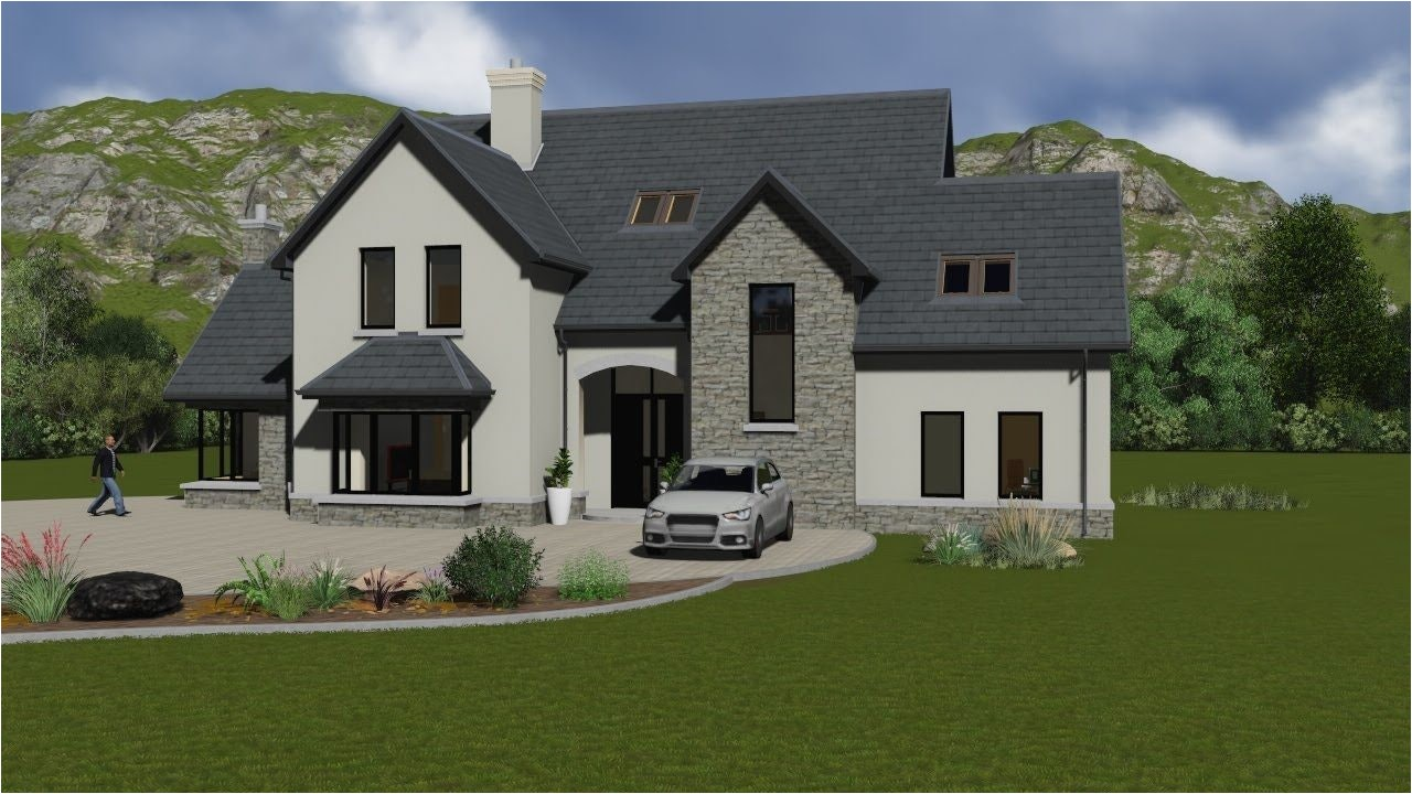 story and a half house plans ireland