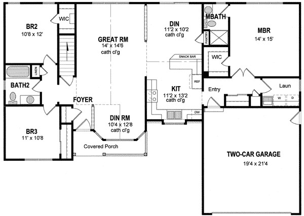 single level house plans