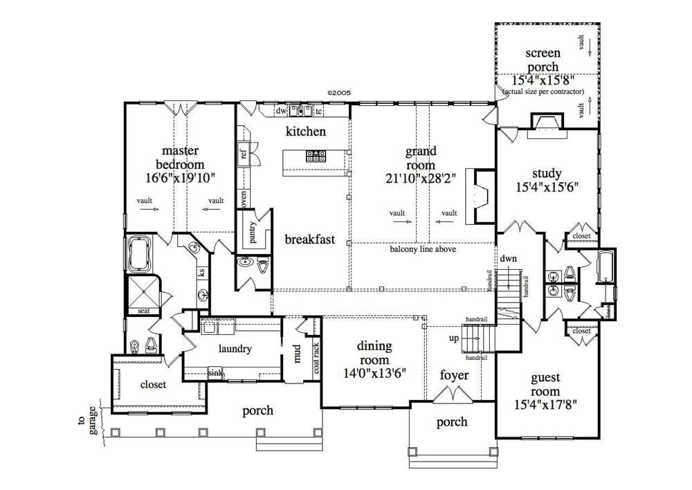 single story with basement house plans